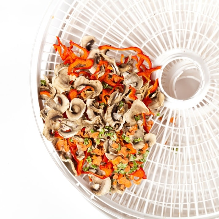 save space with a food dehydrator
