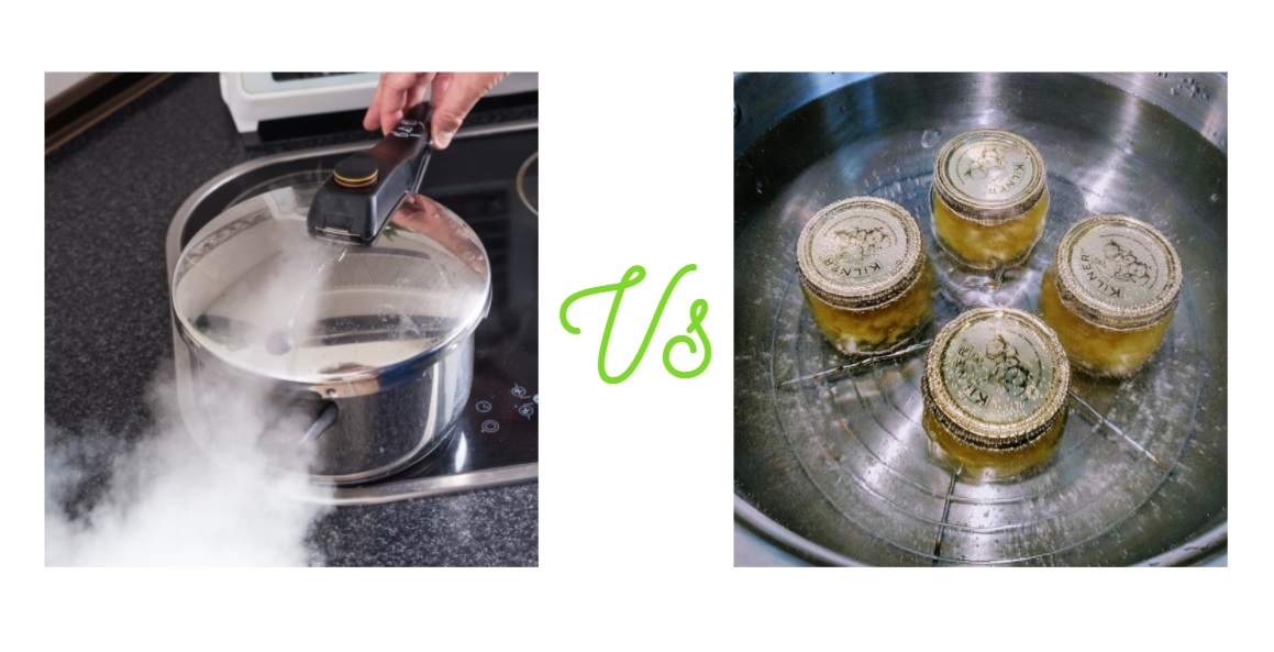difference between pressure canner and water canner