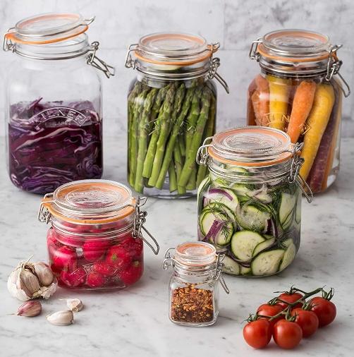 Kilner jars for pickling