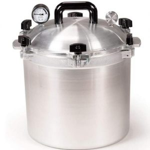 A pressure canner for vegetable canning