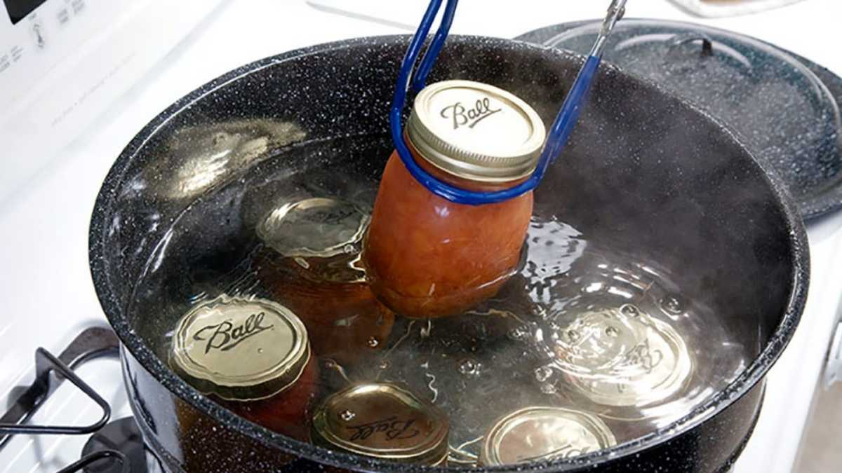 preserving food with water bath canning