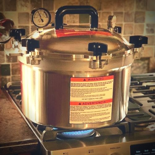 speed up heating pressure canner with gas stove