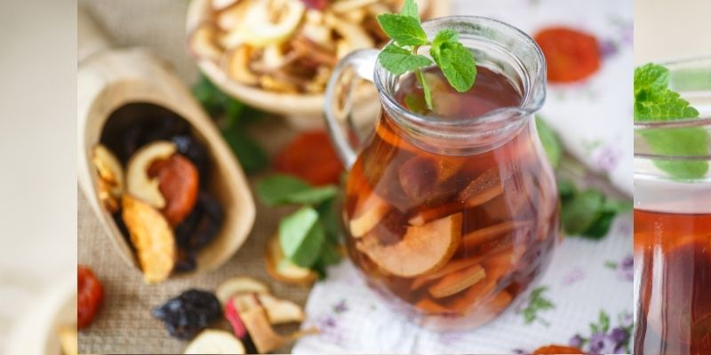 rehydrate dried fruits